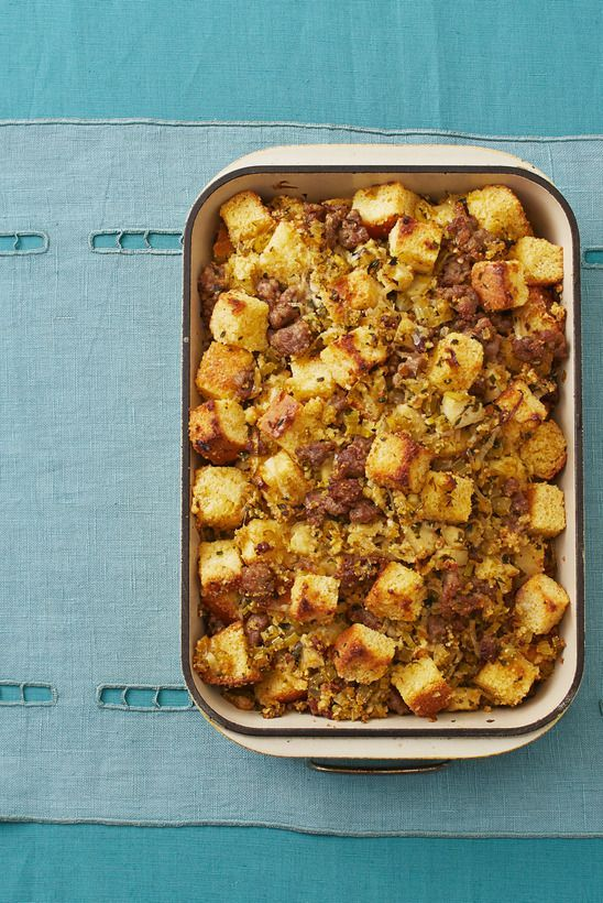 Cornbread Dressing With Sausage and Apples Is a Thanksgiving Must-Have -   18 stuffing recipes for thanksgiving with sausage cornbread dressing ideas