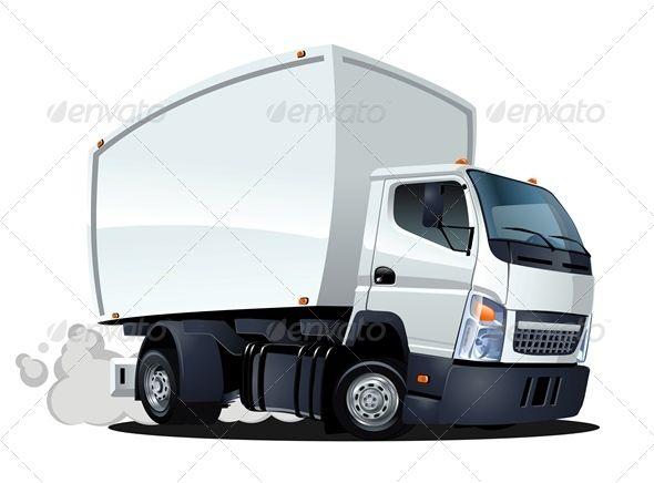 Delivery Cargo Cartoon Truck Dizajn Tachka Mashiny I Motocikly