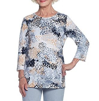 Alfred Dunner® Animal Knit Tunic Top