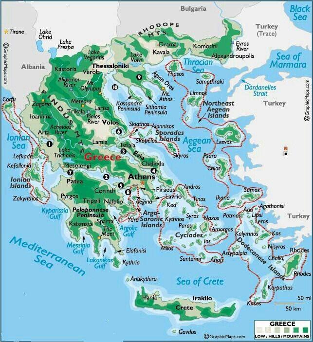 Thassos Greece Map.Map Of The Greek Ne Aegean Isles Samothraki Thassos Greek N