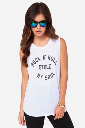 4c6df6e6 Rock & roll can steal something important if you're not careful, just hope  it's not your Volcom Drifter White Muscle Tee! This soft jersey knit tee  has a ...