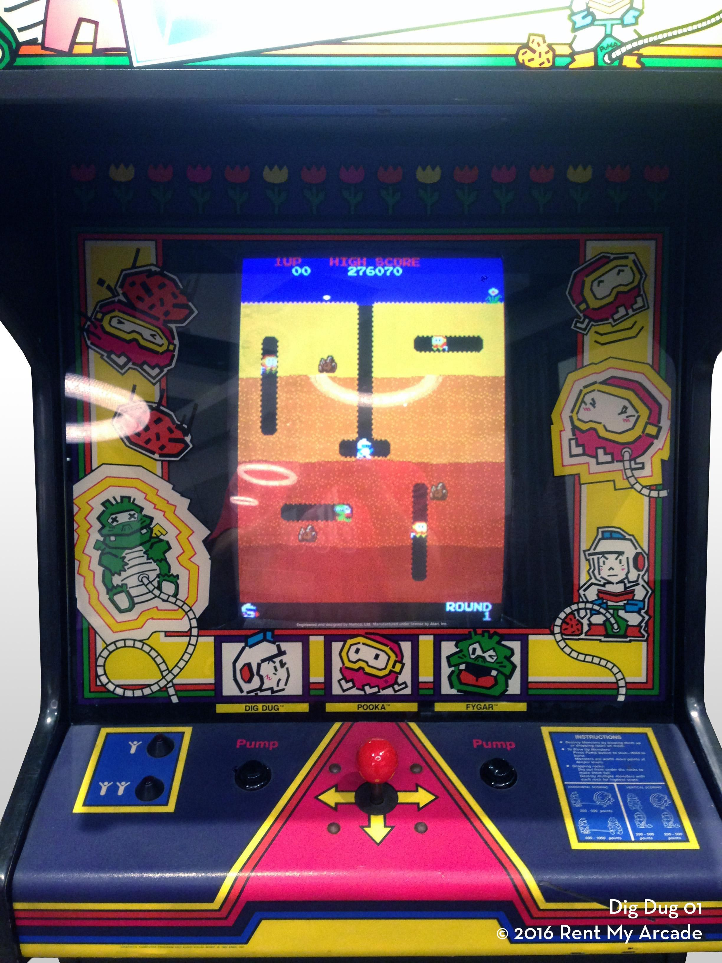Image result for dig dug arcade Arcade, Arcade machine