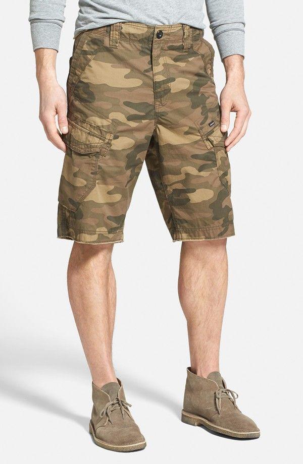 'Logan' Camo Print Cargo Shorts
