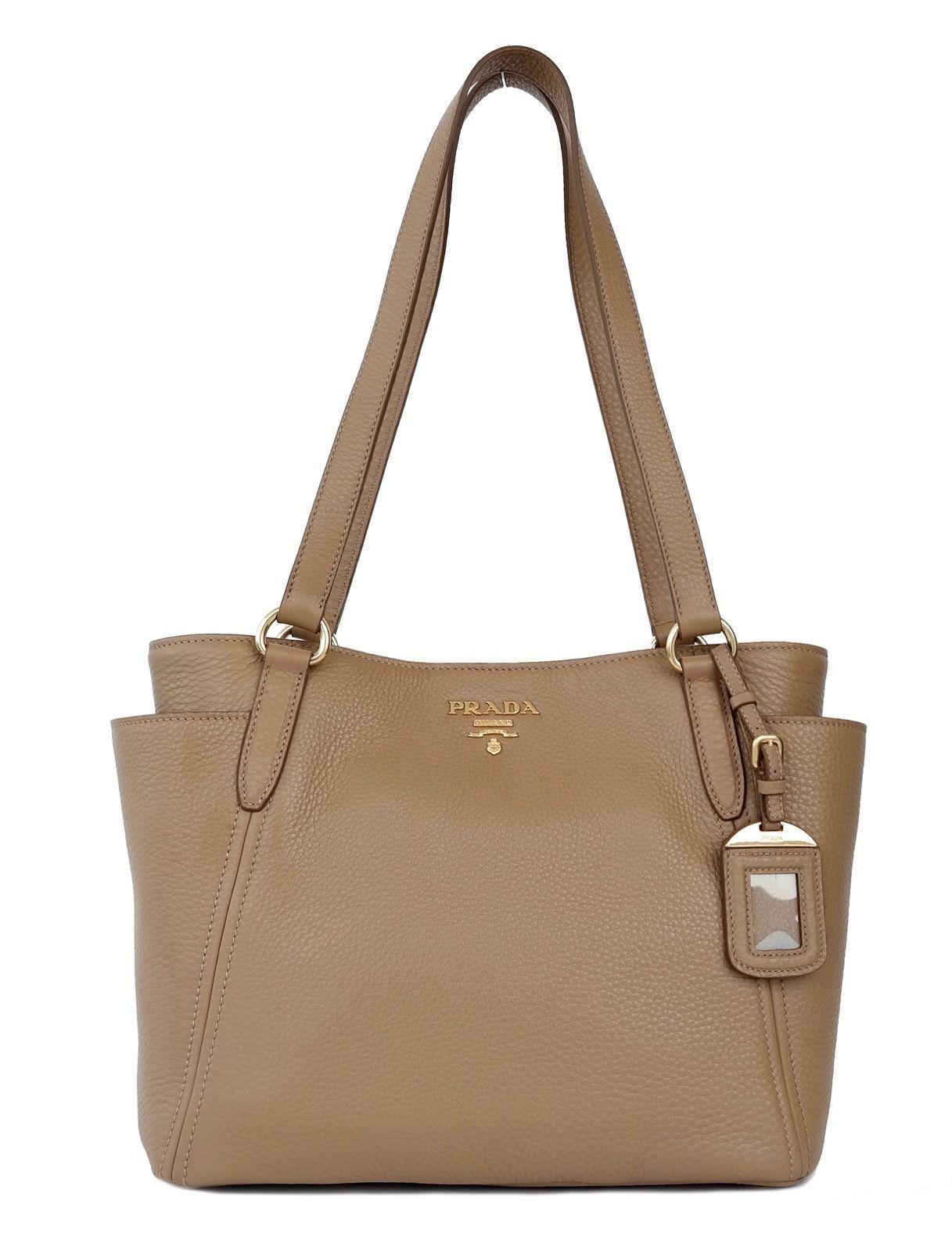 Prada Tote Satchel Leather Side Pocket Shoulder Bag Get One Of The Hottest Styles Season Is
