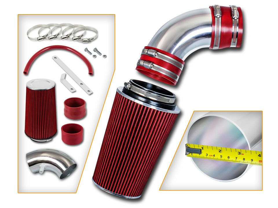 RED Cold Air Intake Kit+Filter For 90-95 Ford Thunderbird 3.8L V6 Supercharged