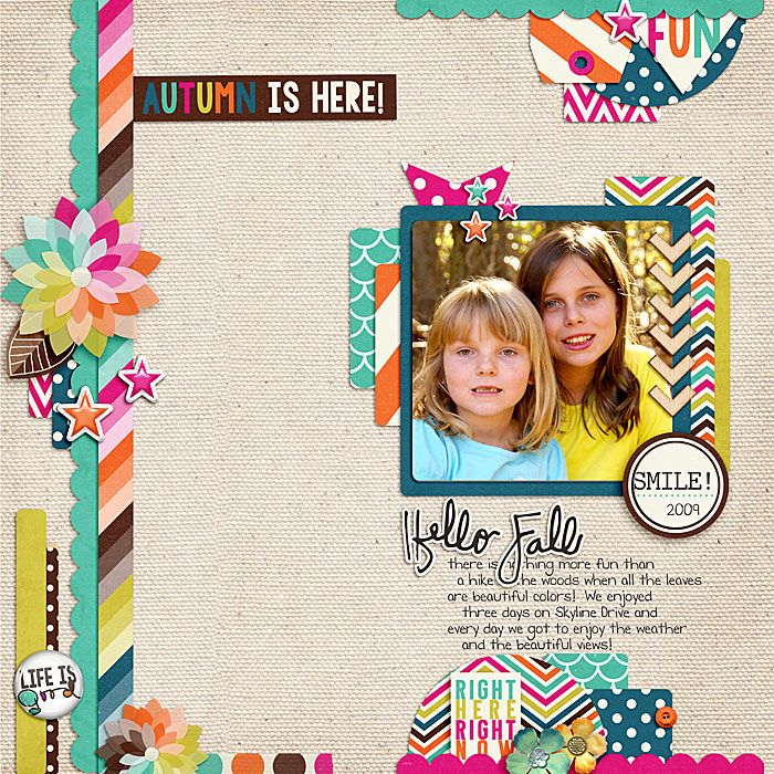 Layout using {Mix It UpHalf Pages} Digital Scrapbook Templates by