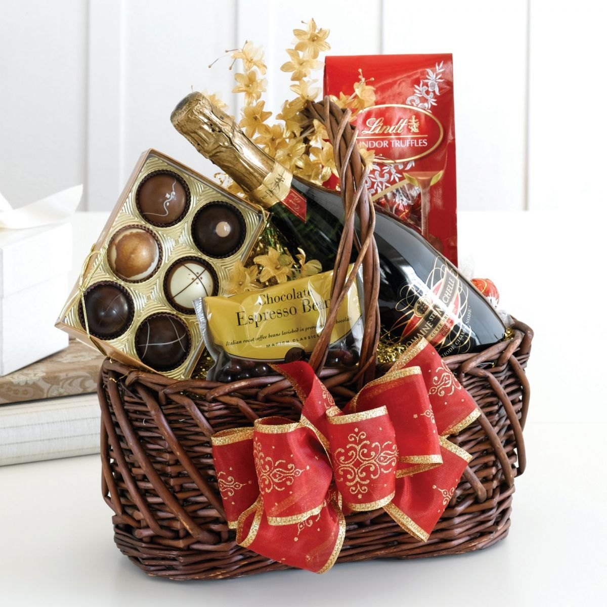 ideas for making a chocolate gift basket Family gift
