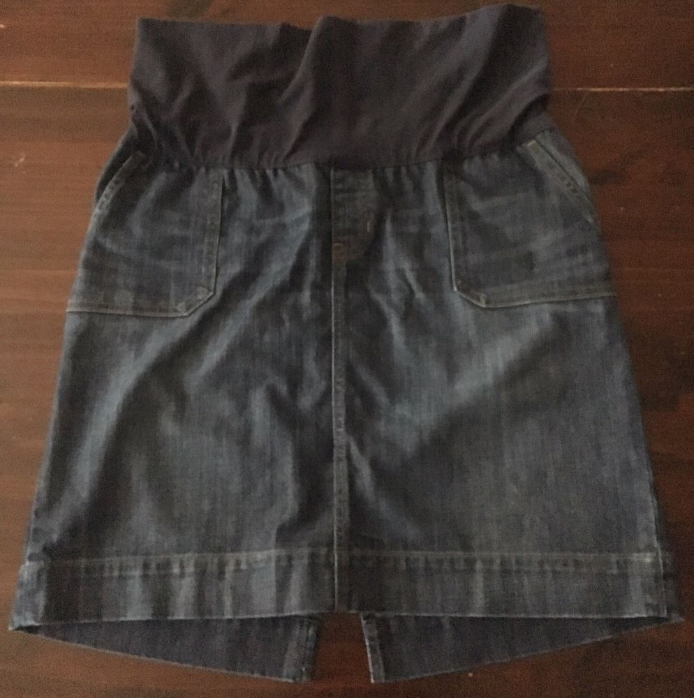 7697dbe15 Stretch Denim Knee Length Skirt
