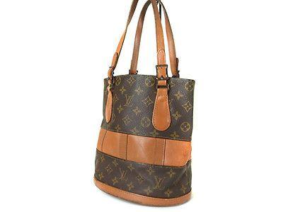 7b5d1ffabe Authentic LOUIS VUITTON USA BUCKET Monogram Tote Bag Shoulder Bag Purse  LS11441L