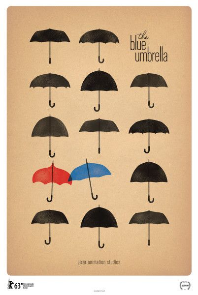 The Blue Umbrella. Short before Monsters University. Soooo adorable!! My favorite besides Paperman!!