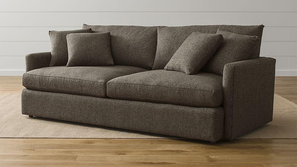 Lounge Ii 93 Sofa Truffle Deep Sofa Crate Barrel Lounge Sofa
