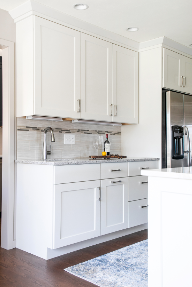 White Kitchen Cabinets With Silver Hardware Transitional White Kitchen | Kitchen design, Kitchen redo, White