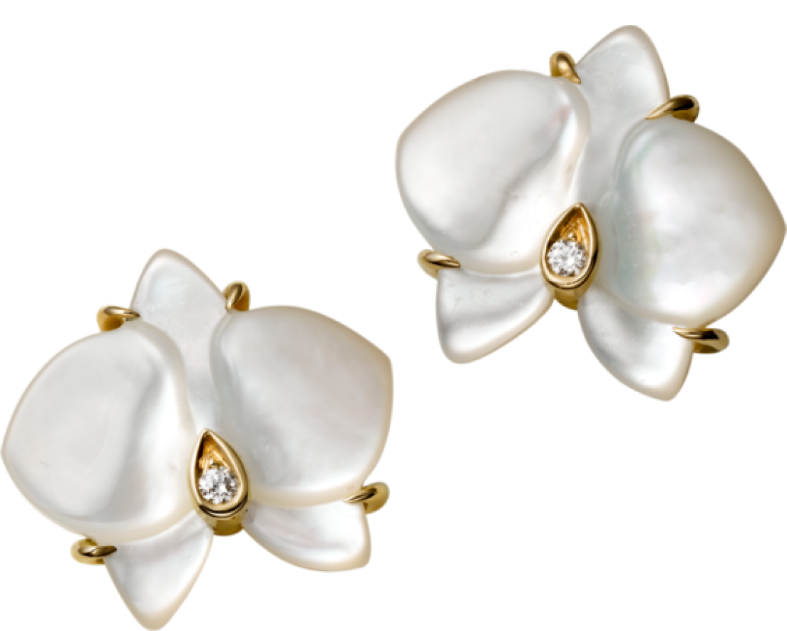 e70c102f3fd73 Cartier Mother of Pearl Orchids | C O V E T - JEWELS | Mother of ...