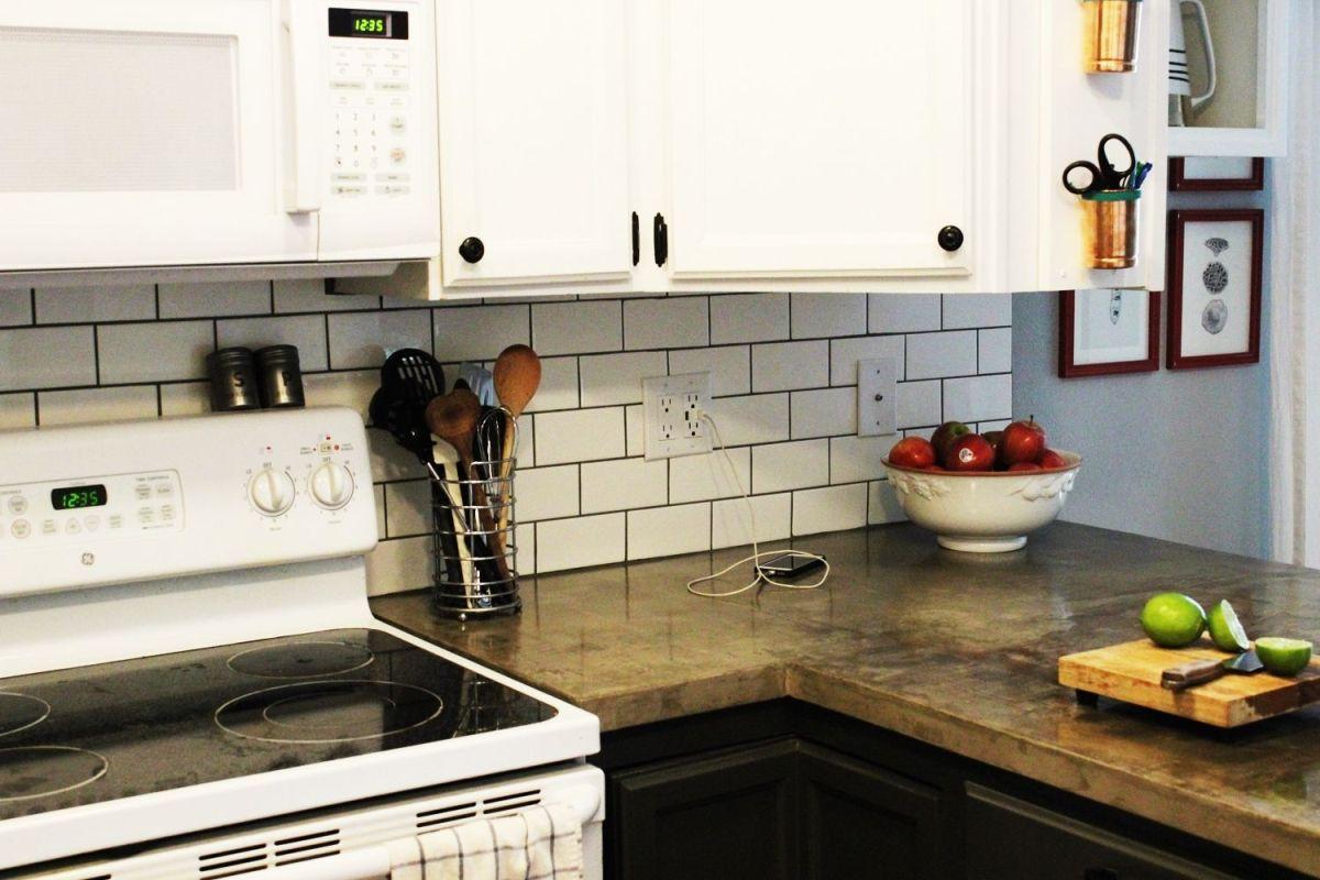 How To Install A Subway Tile Kitchen Backsplash Kitchen