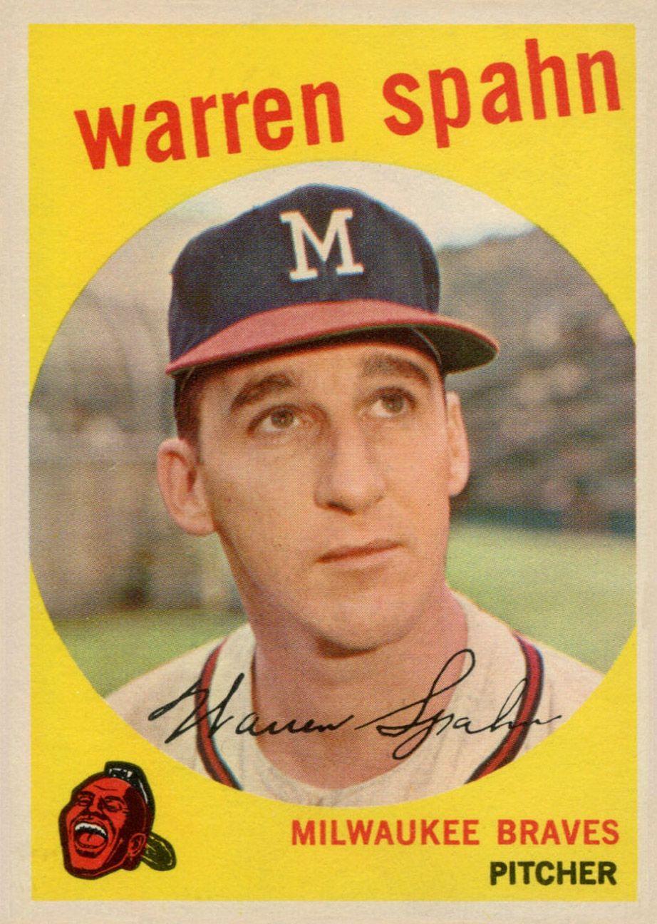 1959 topps warren spahn baseball cards old baseball