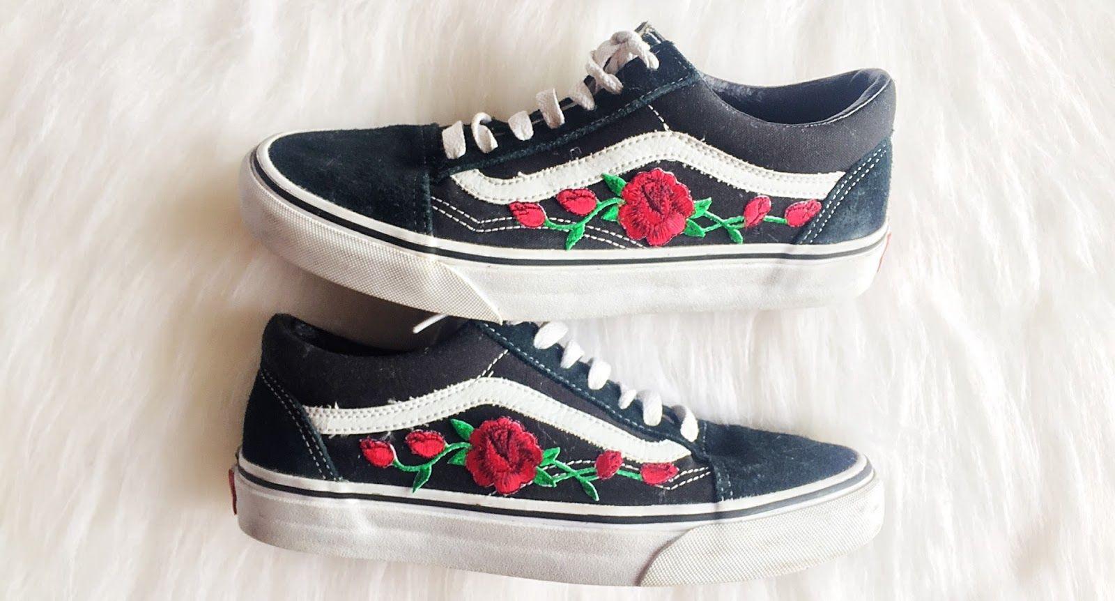 diy rose vans