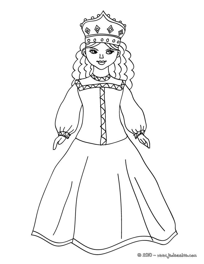 Coloriage Princesse Russe Jedessine C 20296