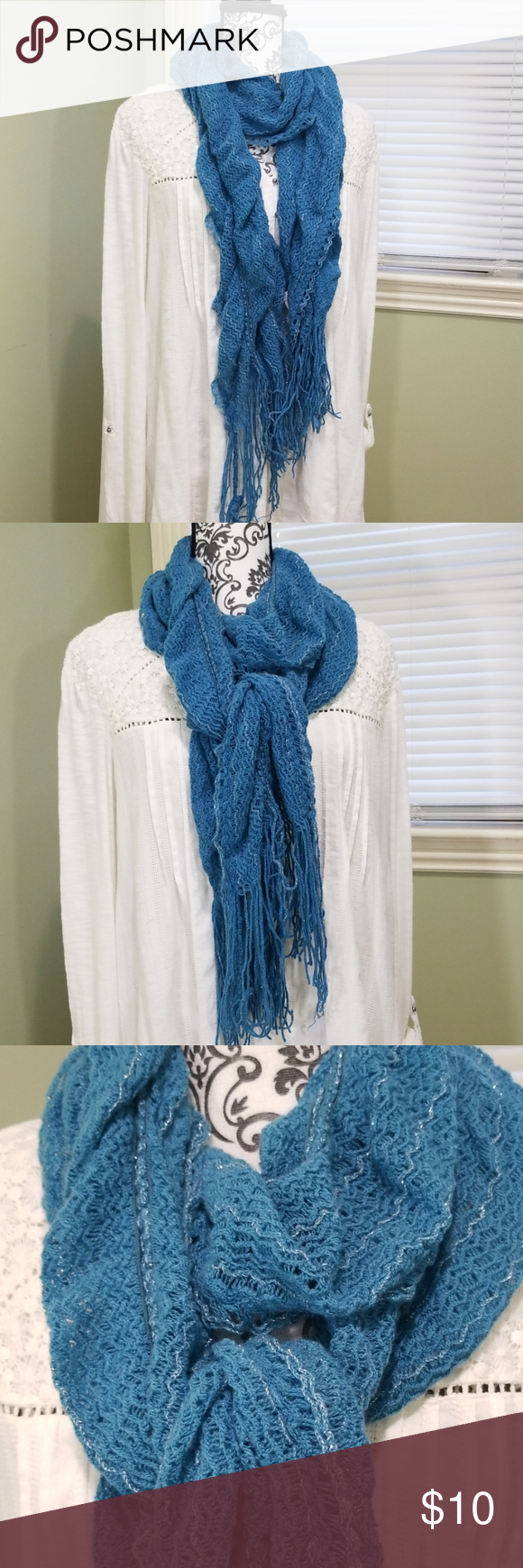 Photo of Maurices Strickschal – Stretchy Teal w / Silver Maurices Strickschal – Stretchy Teal …
