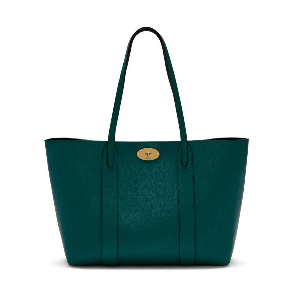 ff3bb2b8e4 Shop the Bayswater Tote in Ocean Green Leather at Mulberry.com. The perfect  everyday bag, the Bayswater Tote is eternally practical; spacious enough to  fit ...