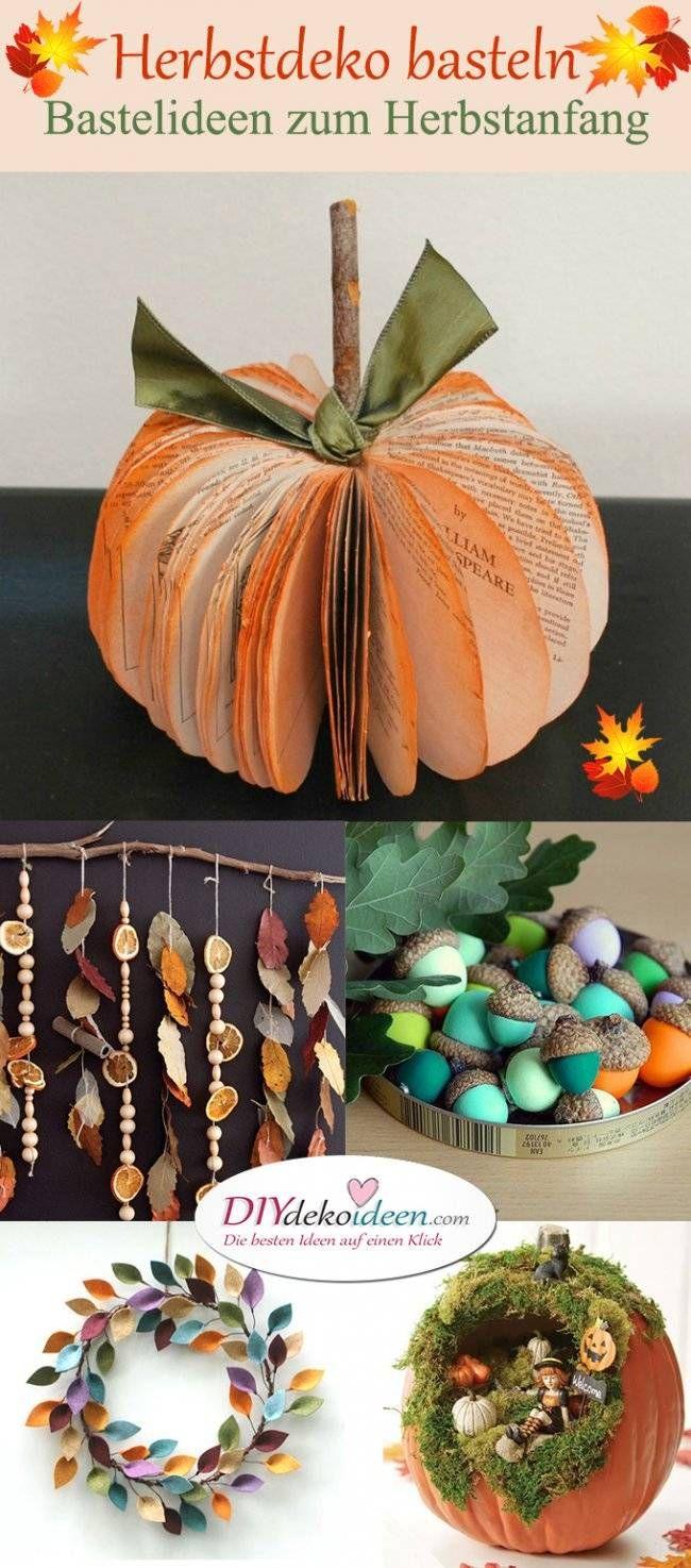 Herbstdeko basteln tolle diy bastelideen zum for Bastelideen herbst papier
