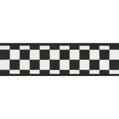 Black And White Check Wallpaper Border