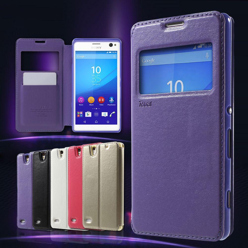 Roar Korea For Sony Xperia C4 C 4 Dual Case Phone Bag Noble View Window