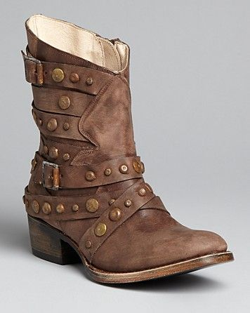FREEBIRD by Steven Studded Ankle Strap Western Booties - Haley - Boots - Shoes - Shoes - Bloomingdale's