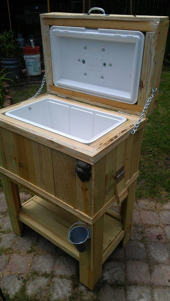 This is such a cool ice chest a friend of mine builds for Diy patio cooler