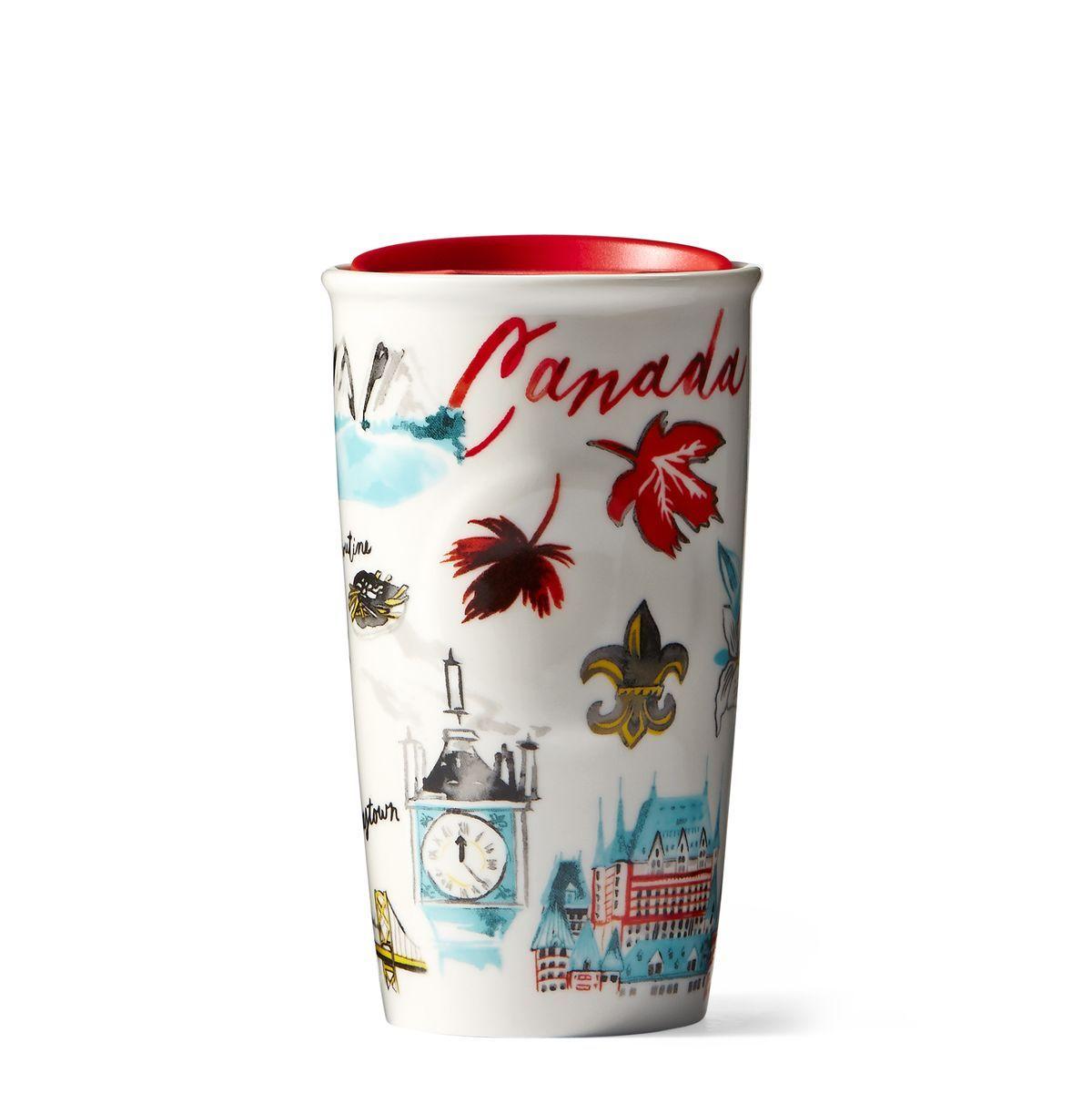 A double-walled ceramic mug celebrating iconic images and ...