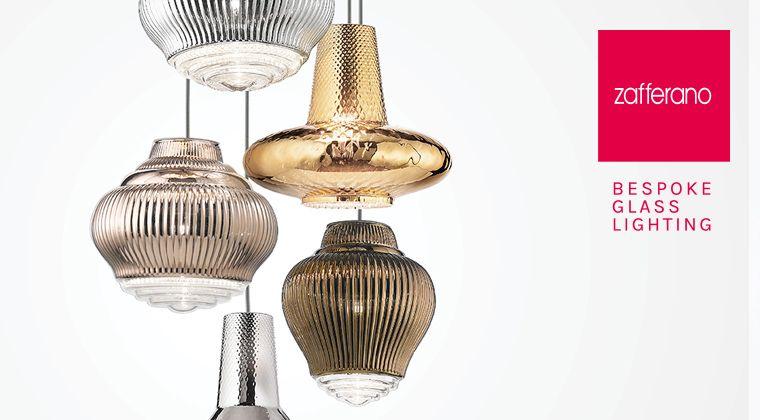 Zafferano Bespoke Glass Lighting New Collections 2018 At Light Building Progetti Di Illuminazione Lampade A Sospensione E Tavolo Vetro