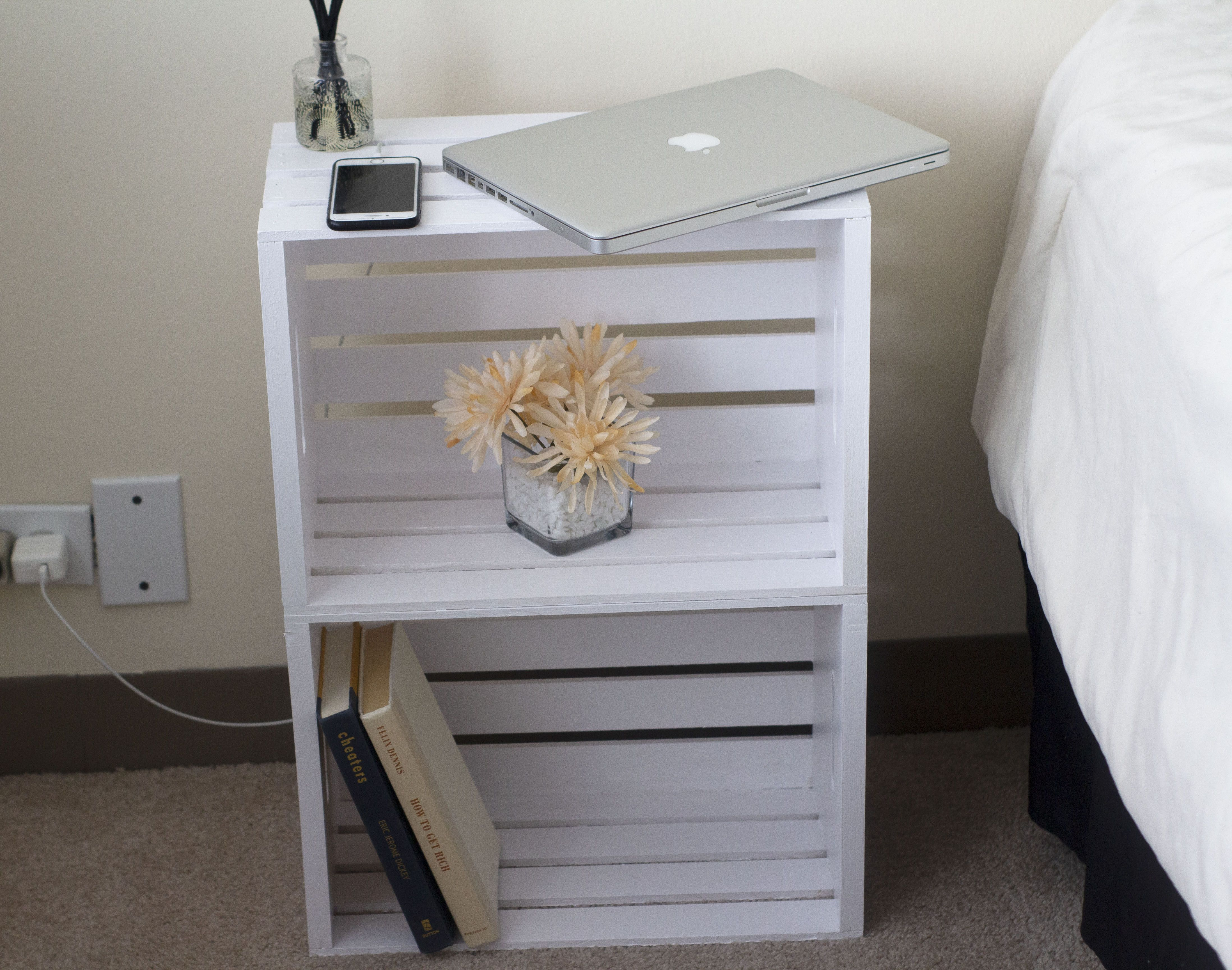 quick and easy diy nightstand diy nightstand crate nightstand wooden crates nightstand