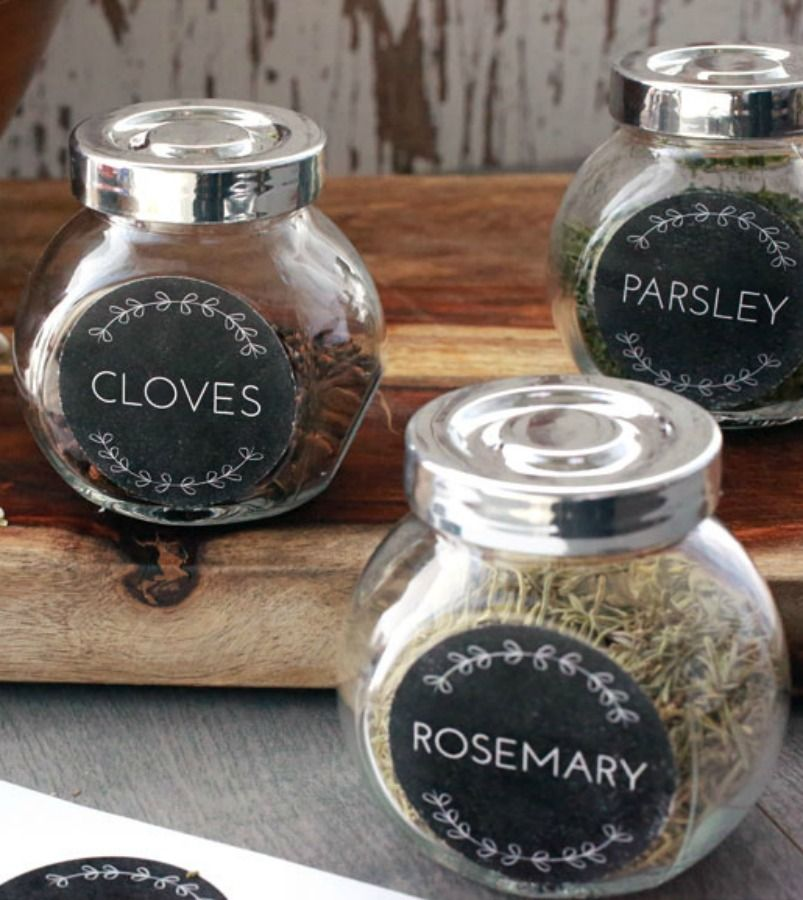 Printable Spice Jar Labels Instructions Recipe Do It Yourself