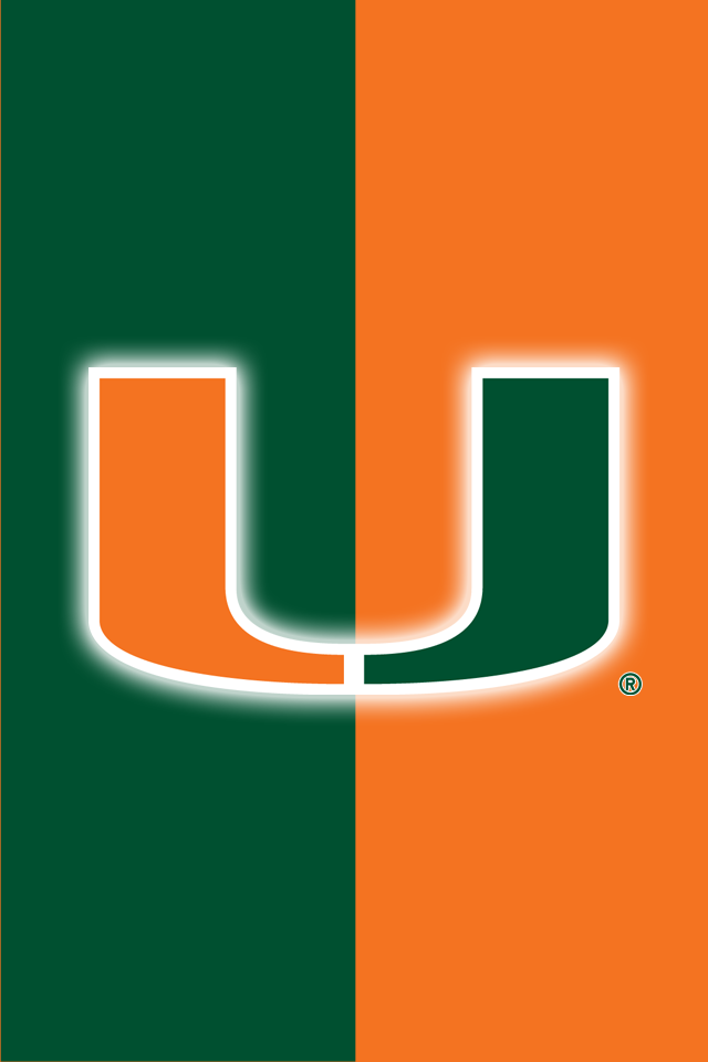 Get A Set Of 12 Officially Ncaa Licensed Miami Hurricanes Iphone Wallpapers Sized Precisely For Any Model Miami Hurricanes Miami Hurricanes Football Hurricane