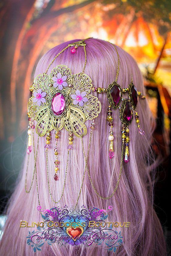 Beautiful handmade one of a kind lilac & por BlingGoddessBoutique