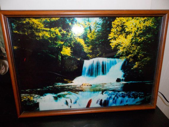 Vine Niagara Falls Motion Light Lighted Moving Waterfall Mirror W Sound