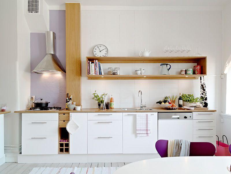 cocinas pequenas minimalistas blancas cocinas by Paola Zacarias