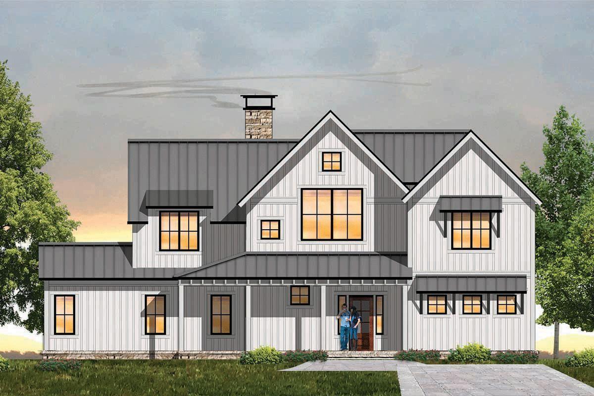 House Plan 8504-00126 - Modern Farmhouse Plan: 2,998 ...