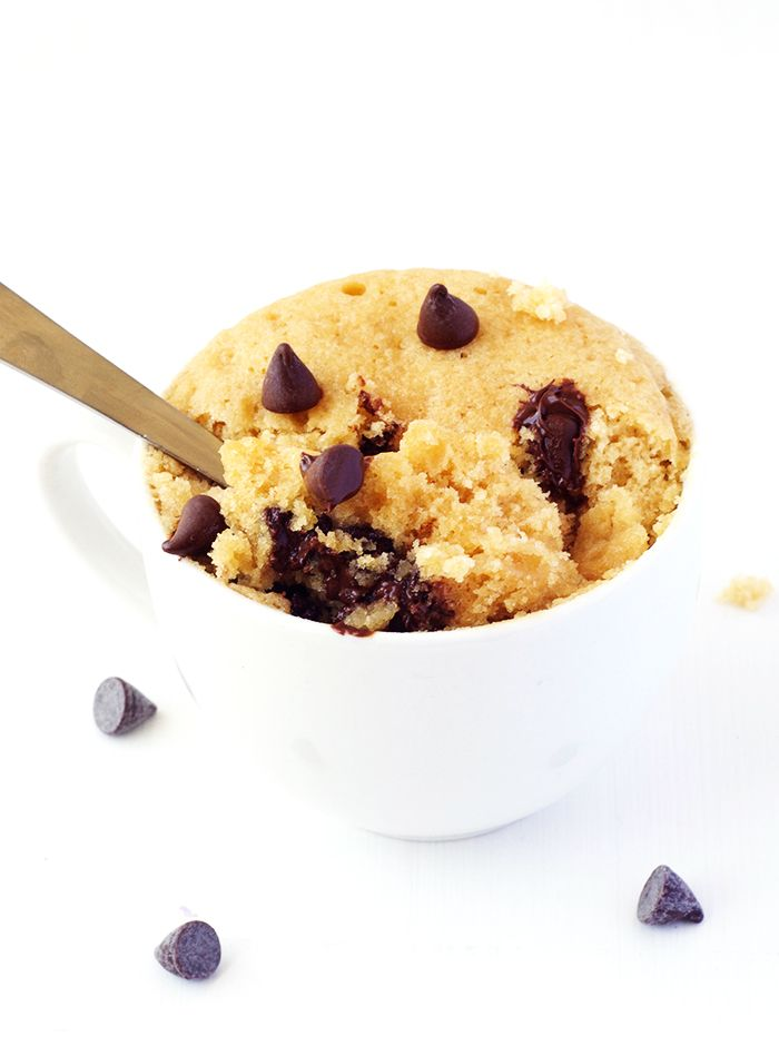 Vanilla Chocolate Chip Mug Cake | Recipe | Chocolate chip ...