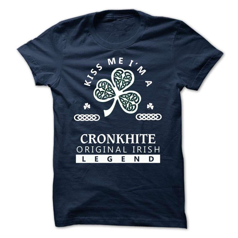 (Tshirt Discount) CRONKHITE Kiss Me Im Team Top Shirt design Hoodies