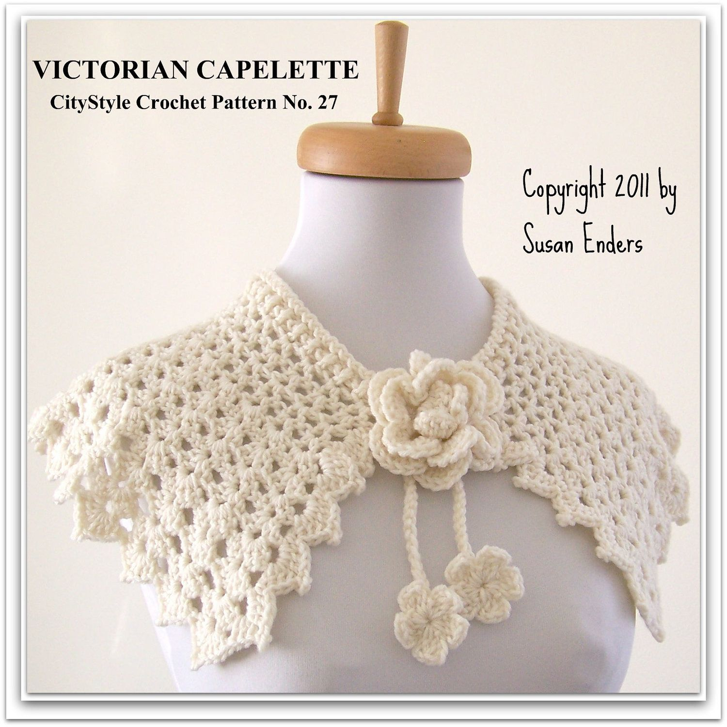 Crochet pattern capelet shawl with rose and flower blossom tie crochet pattern capelet shawl with rose and flower blossom tie sell what you make bankloansurffo Choice Image