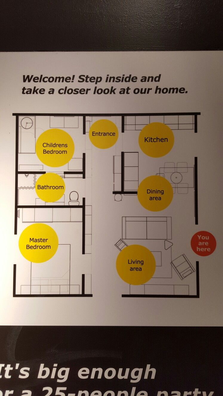IKEA's efficient 55sqm family home layout