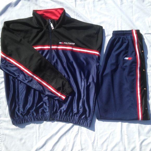 Vintage Tommy Hilfiger Athletics Tracksuit Vintage Tommy Hilfiger Athletics Tracksuit   Size : X-LARGE   Great Condition ! Tommy Hilfiger Other