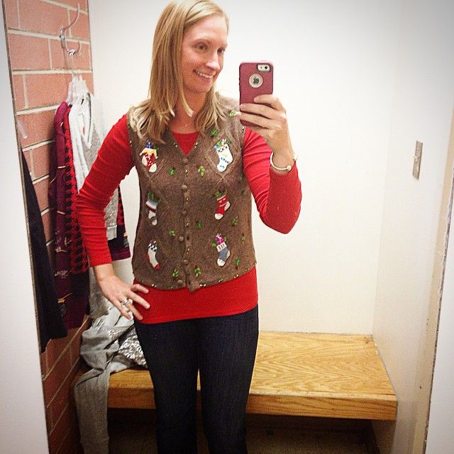 Tacky Christmas Sweater // goodwill