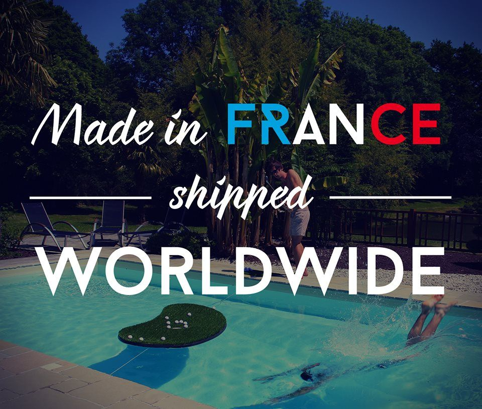 Swimming Golf, made in France, shipped worlwide #golf #pool #piscine #golflife #poollife #aquagolf #floatinggreen #golfgame #frenchstyle #enjoy