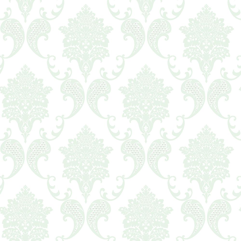 Kitchen Wallpaper Texture the paper partnership grace mint / white wallpaper main image