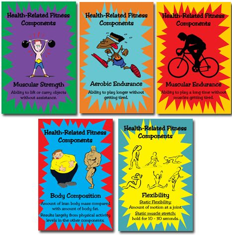 Physical Education Posters | New Health-Related Fitness Component ...