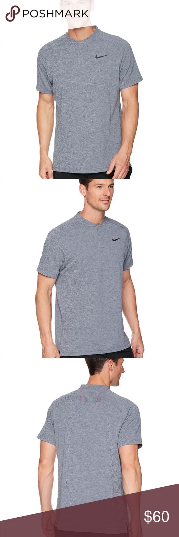 7ecd9a2a Men's Nike AeroReact Momentum Golf Blade Polo NIKE AEROREACT MOMENTUM SLIM  FIT GOLF POLO SHIRT MEN'S SIZE: M, MEDIUM Color: thunder blue heather /  hyper ...
