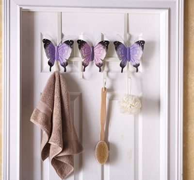 Decorative Clothes Hooks Erfly Over The Door