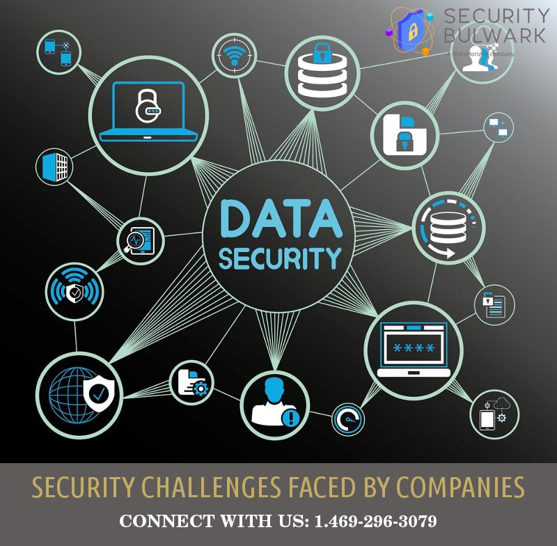 Security Challenges Faced By Companies Security Consultant Cyber Security Data Security