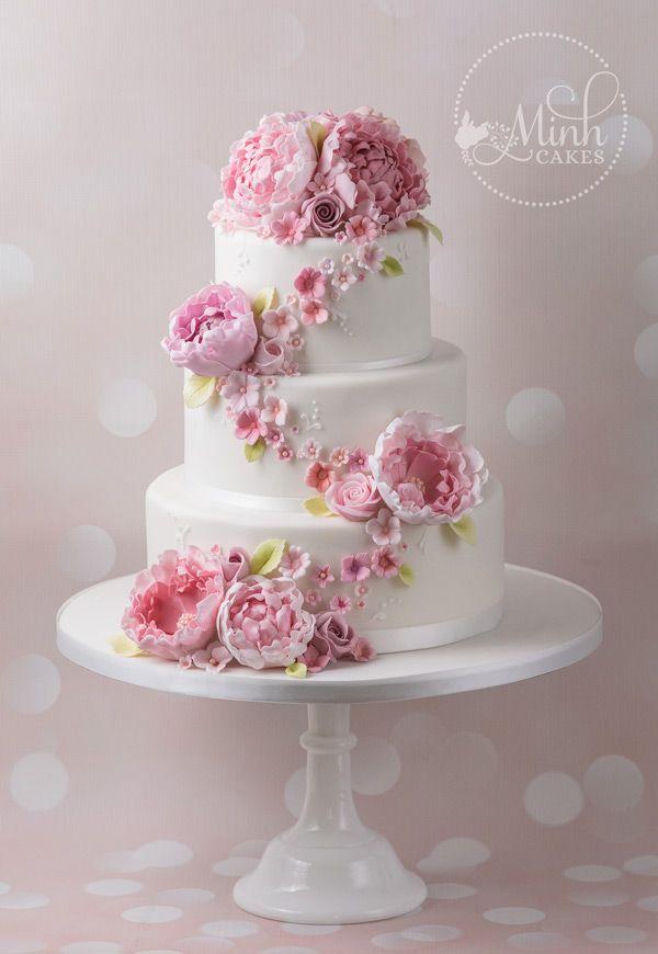 Minh Cakes Wedding Cake Hochzeitstorte Vintage Peonies Cake In